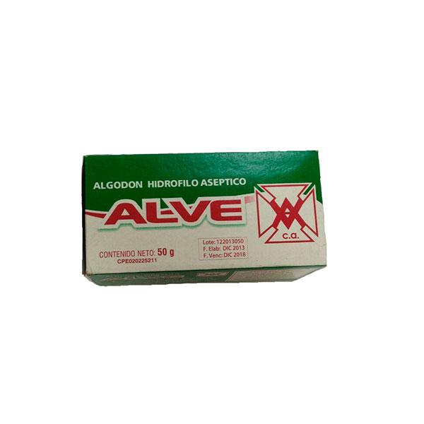 Algodon Hidrofilo Alve Cajita 50Gr